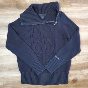 Calvin Klein Side Zip Cowl Neck Sweater